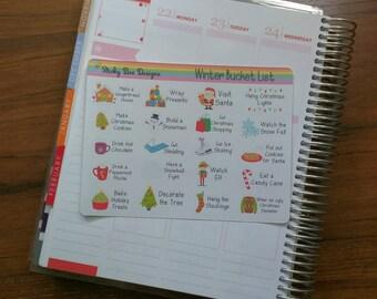 Winter Bucket List Sticker Set