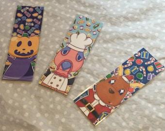 Animal Crossing Holiday Bookmark Set of 3