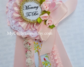 Girl Mommy to be Pin/Shabby Chic Mommy to be Corsage/Paris Mommy to be Corsage/Paris Mommy to be Pin/Shabby Chic Mommy to be Pin/Chic Mommy