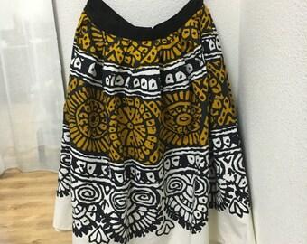 African print cotton skirt