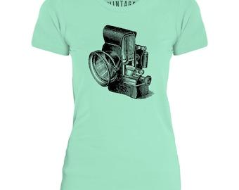 Mintage Antique Headlight  Womens Fine Jersey T-Shirt