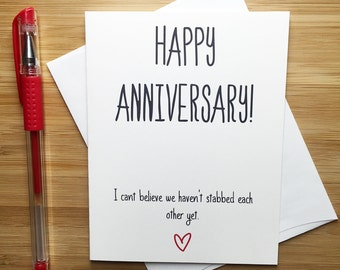 Anniversary Card, Love Card, Happy Anniversary, Funny Anniversary Card, Cute Card for Boyfriend, Anniversary Cards for Wife, Funny Greeting