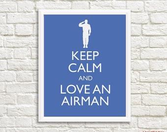 Air Force Girlfriend, Air Force Wife, Air Force Gift, Air Force Printable, Military Printable, Military Gift, Deployment Gift, Military Wife