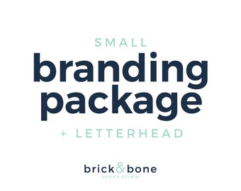 Small Branding Package + Letterhead - Custom Logo Design, Branding Package, Letterhead, Business Card, Business Identity, Color Scheme
