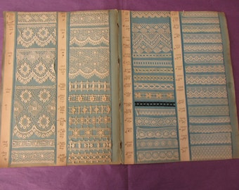 Great boards catalog of 90 samples of old lace 11840