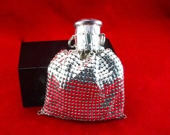 Silver chain mail mesh purse