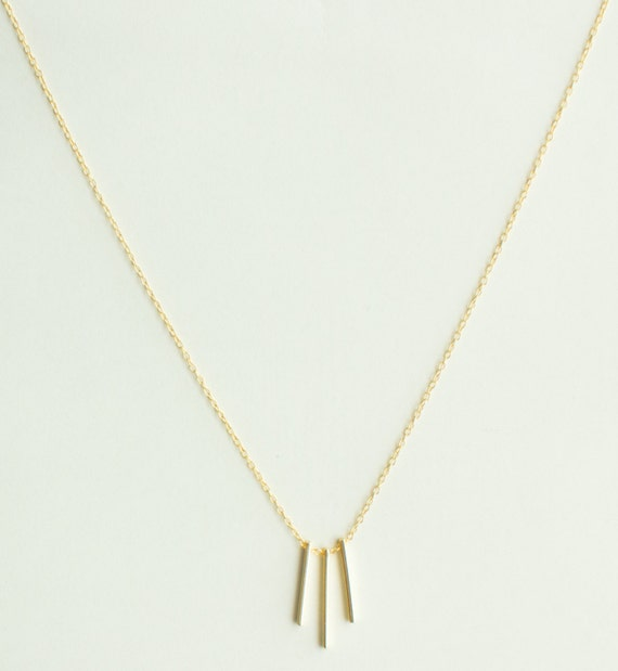 gold bar necklace vertical bar necklace by