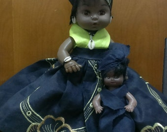 Dolls Dressed in Authentic African Attires-West Africa