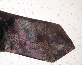 Vintage necktie pink flower exotic necktie flowers tie  pink floral necktie Vintage  wedding tie SOVRANO Necktie made in Britain