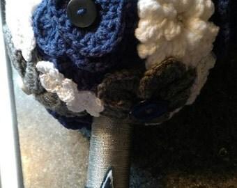 Crocheted bridal bouquet