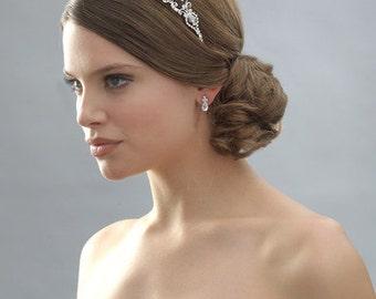 Rhinestone Tiara, Wedding hair accesories, Wedding tiara, Bridal tiara, Crystal tiara, Bridal headband, Wedding crown, Crystal crown