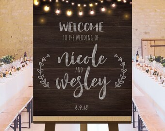 Wedding welcome sign, wedding reception printables sign, wedding ceremony welcome sign, quality wedding signs, customized DIGITAL