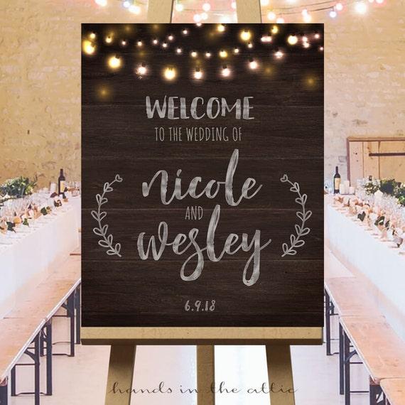 No Ceremony Just Reception: Wedding Welcome Sign Wedding Reception Printables Sign
