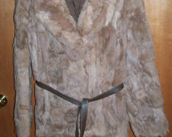 Vintage 1970's Rabbit Fur Jacket