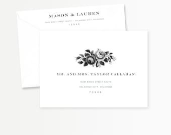 DIY Printable Envelope Template | Custom Wedding Envelope Address | Floral, Botanical | Instant Download | DIY Wedding Printable