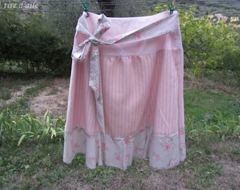 Skirt pink shabby chic, romantic, girly, mori, Nadir