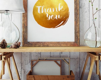 Thank you - Thankful Print - Motivational Words - Quote Print - Wall Decor