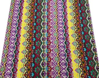 """Abstract Printed Pure Cotton Fabric 42"""" Wide Crafting Indian Dress Making Material For Sewing Craft Indian Fabric By 1 Yard ZBC4874"""