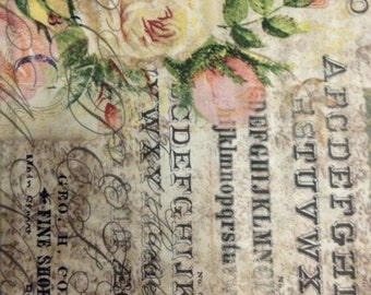 Rose Parcel Post, Wallflower, Eclectic Elements, Tim Holtz, 100% Cotton