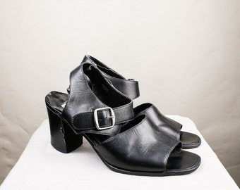 Size 10 Chunky Sandals with Buckle Detail