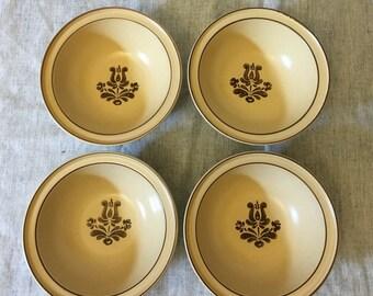 Vintage Pfaltzgraff Village Cereal Bowls, Set of 4