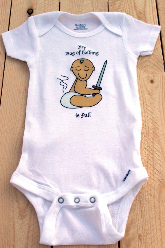 Baby Gifts For Nerdy Parents : Bag of holding onesie gamer baby bodysuit cute nerdy