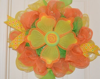 SALE!!!!! Spring Wreath with Flower