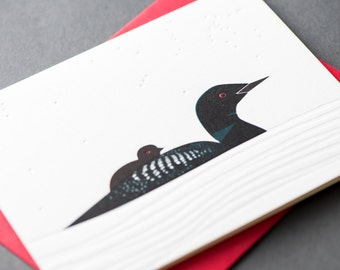 Loon Letterpress Greeting Card