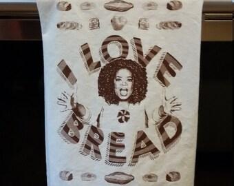 I Love Bread! Flour Sack Kitchen Towel