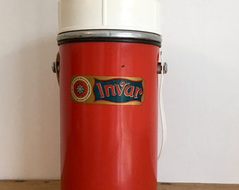 "French Vintage ""INVAR"" Themos Flask"