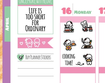 Munchkins - Cooking Chef Planner Stickers (M173)