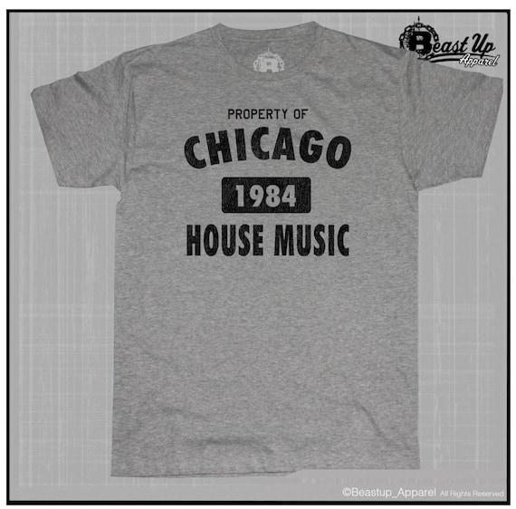 Chicago house music 1984 dj t shirt tb 303 tr 909 jack acid for Chicago house music