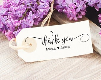 Wedding Thank You Stamp - Personalized Thank You Stamp - Thank You Wedding Stamp - Thank You Rubber Stamp - Custom Wedding Favor Stamp