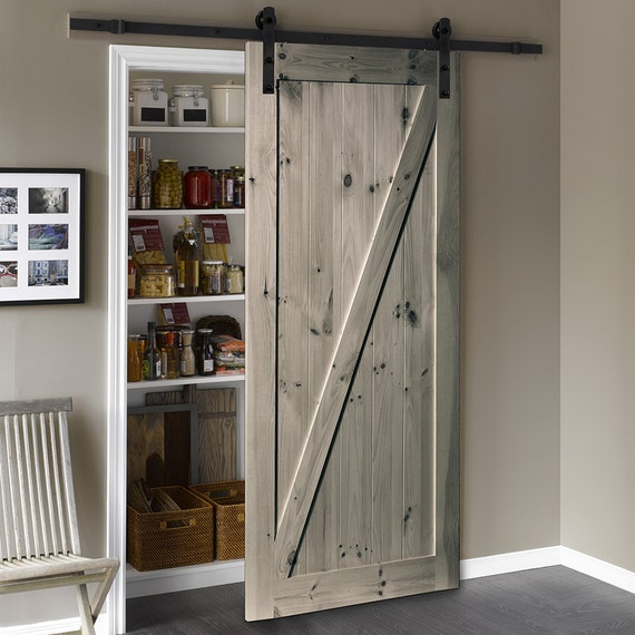 Classic Gray Rustic Natural Barn Door Handmade with by ...