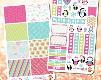 Penguin / Holiday / Christmas / Winter Theme Planner Stickers