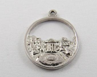Historic Dundurn Castle Hamilton Ontario Canada Sterling Silver Charm of Pendant.