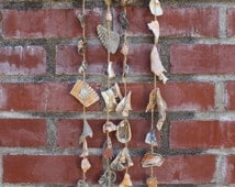 Ocean Magic Curved Driftwood Seashell Wind Chime Art