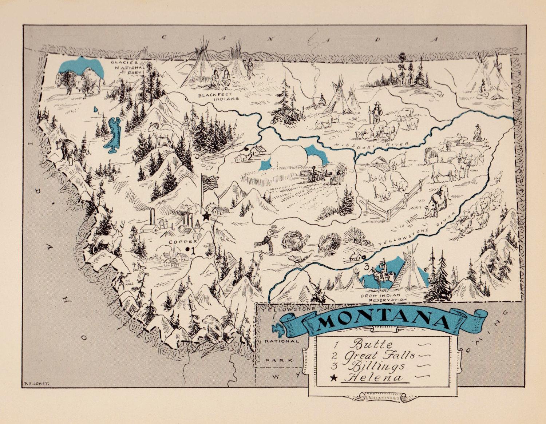 Priceless image pertaining to printable map of montana