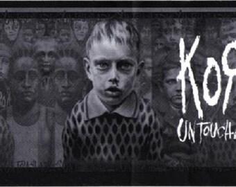 Rare Vintage Korn Untouchables Johnathan Davis Munky Fieldy Head Huge Vinyl Bumper Sticker-New!