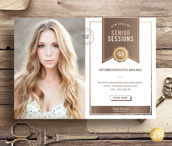 Senior Portraits Mini Session, Senior Marketing Template for Photographer, Senior Photography Marketing Board & Minis Card Templates MS004