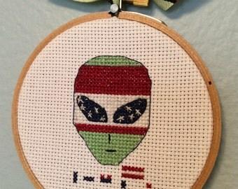 Illegal Alien cross stitch