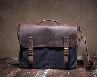 Canvas messenger bag - canvas shoulder bag - crossbody bag messenger - canvas messenger - canvas messenger bag men