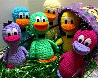 Green Duck, Crocheted Duck, Easter Duck,Duck Amigurumi, Duck Doll