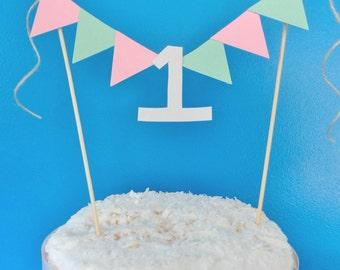 One Cake Topper, One Year Old Birthday, Birthday Cake Banner, 1 Year Old Birthday Boy, 1 Year Old Birthday Girl