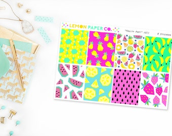 Fruity Pop // Full Boxes (Planner Stickers for Erin Condren Vertical and MAMBI The Happy Planner)