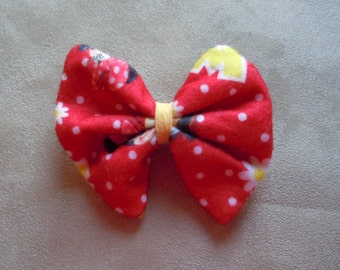 Disney Red Minnie Mouse Hair Bow. Size Small