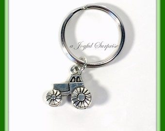 SALE - Tractor Key Chain, Auto Keychain, Tractor Keyring, Gift for Farmers wife, tractor lover's present Farm Vehicle Boy Men Man Male  141