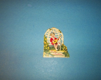 "1920's VALENTINE ""To My Sweetheart"" vintage, die cut, stand up Valentine"