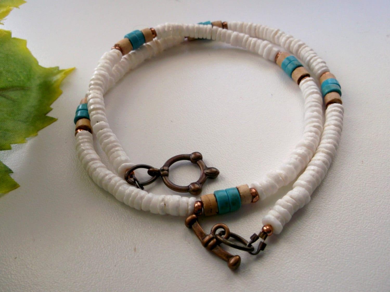 mens choker shell choker mens necklace boys necklace
