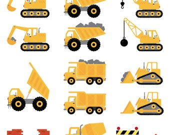 Trucks and Diggers Clipart / Construction Clipart